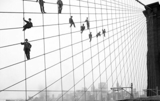 painters-on-the-cables-of-the-brooklyn-bridge-october-7-1914-photograph-by-eugene-de-salignac