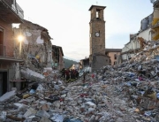 Rescue teams continue their operations in the rubble of the largely destroyed Lazio mountain village of Amatrice, Italy, 1 September 2016. A devastating 6.0 magnitude earthquake early morning 24 August left a total of 293 dead, according to official sources. ANSA/ ALESSANDRO DI MEO